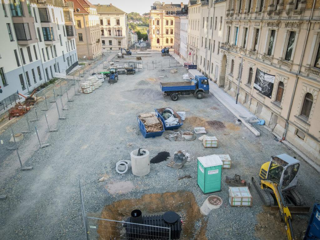Baustelle Solbrigplatz
