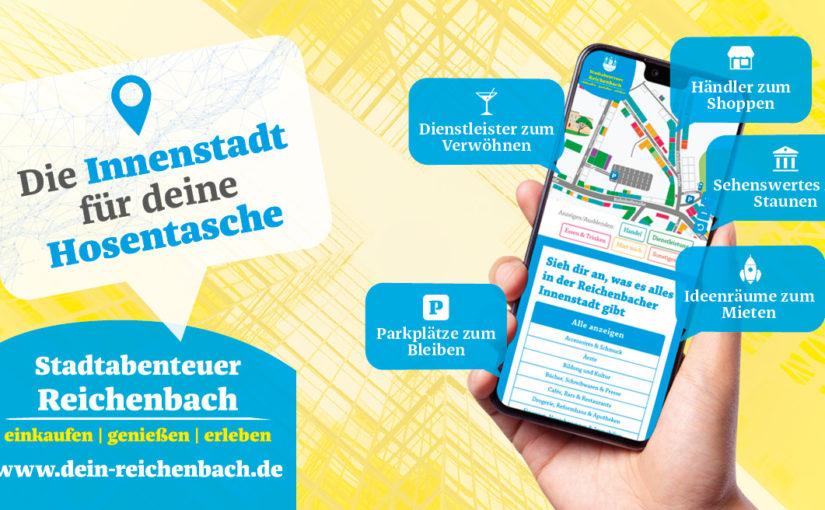 Anzeige interaktive Innenstadtkarte Reichenbach