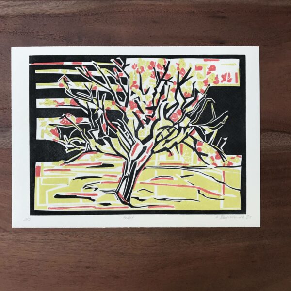 Herbst Linolschnitt