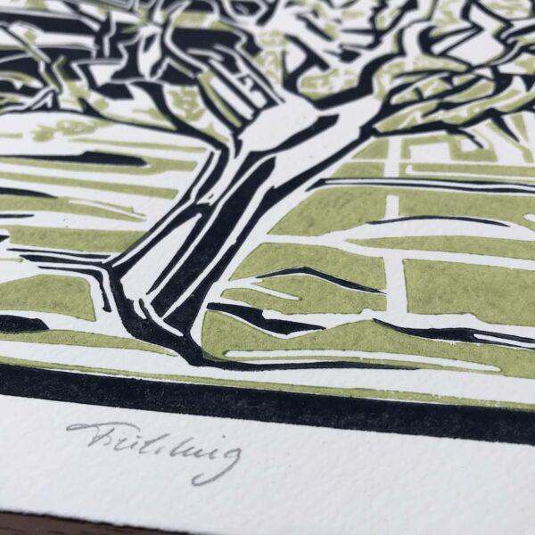Detail Linolschnitt Frühling