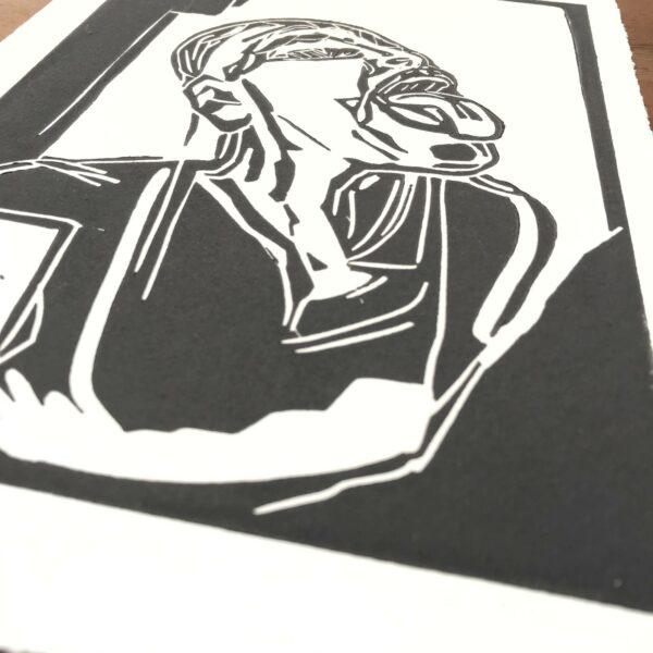Detail Linolschnitt Emotion