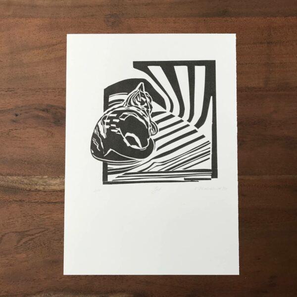 Linolschnitt Gast