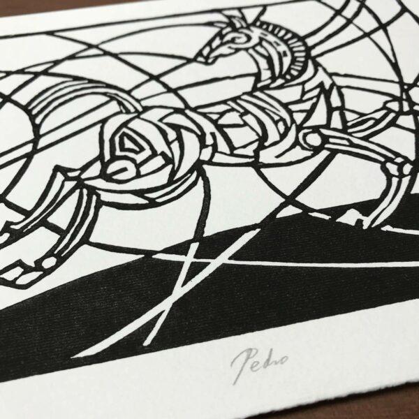 Detail Linolschnitt Petro