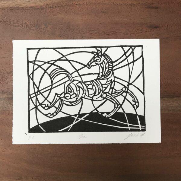 Linolschnitt Petro