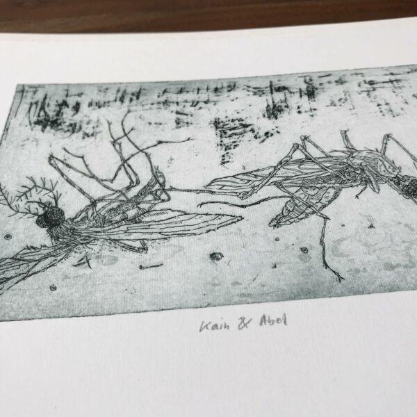 Detail Radierung Kai & Abel