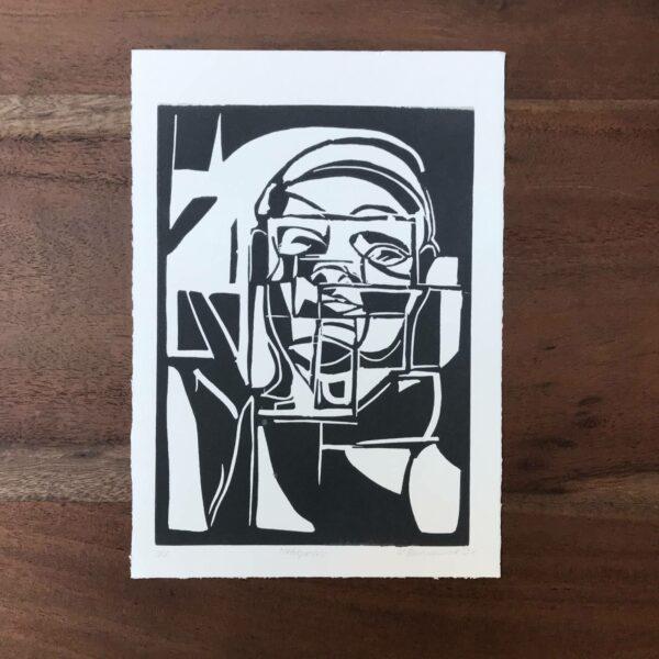 Linolschnitt Metropolis