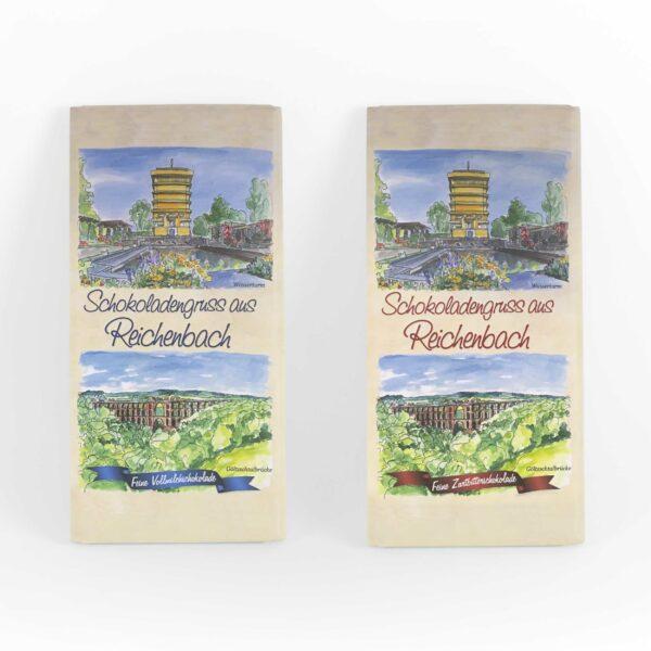 Schokolade mit Reichenbacher motiv
