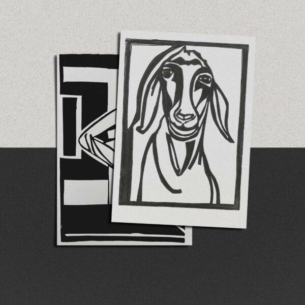 """Postkarte Katja Blechschmidt """"Doloris"""""""