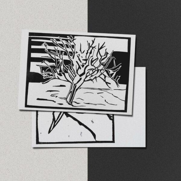 """Postkarte Katja Blechschmidt """"Winter"""""""