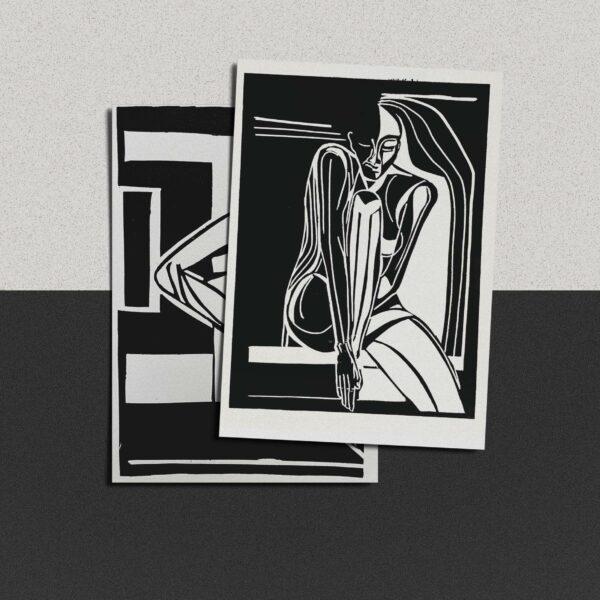 "Postkarte Katja Blechschmidt ""o.T."""