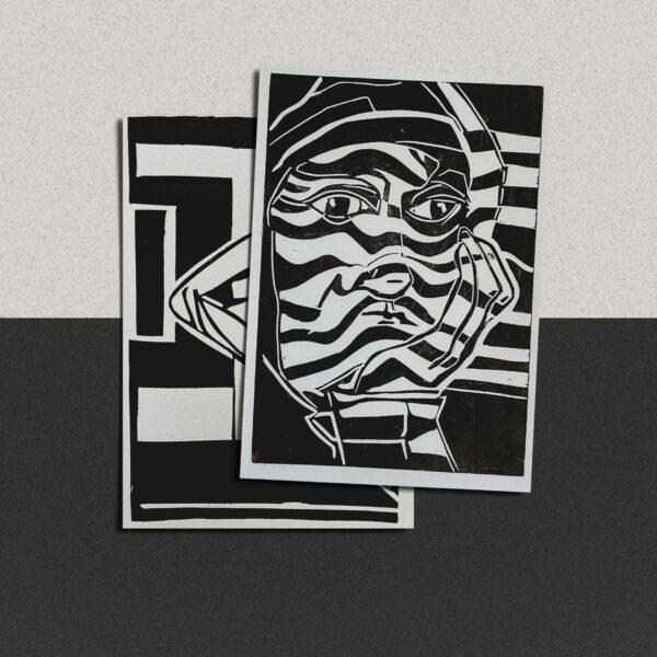 "Postkarte Katja Blechschmidt ""Lethargie"""