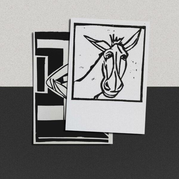 """Postkarte Katja Blechschmidt """"Igor, König der Esel"""""""
